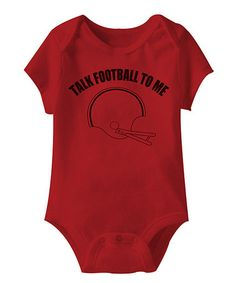 Love this Red 'Talk Football to Me' Bodysuit - Infant on #zulily! #zulilyfinds