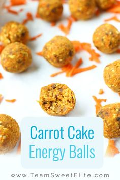 Shakeology Recipe: Carrot Cake Energy Balls // Team Sweet Elite -- #mealplanning #healthfood #cleaneating
