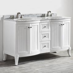 Vinnova Verona 60 in. W x 23 in. D x 35 in. H Vanity in White with Marble Vanity Top in White with Basin-717060-WH-CA-NM - The Home Depot