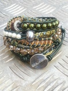 'Cover' has a new owner made this one on the seventh of September 2013. Winter colors #Boho, #Bohemian #Bracelets Jewelry.