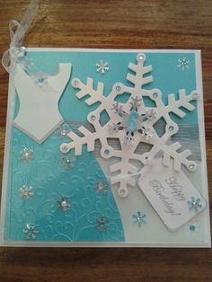 Elsa Frozen style card Elsa Birthday, Girl Birthday Cards, Frozen Birthday, Frozen Party, Handmade Birthday Cards, Handmade Cards, Disney Scrapbook, Scrapbook Cards, Scrapbooking