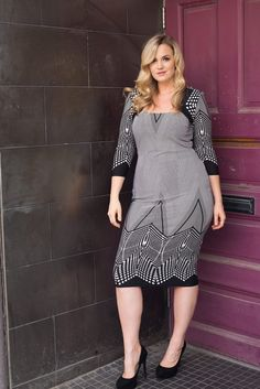 Printed Pencil Dress – Sexy Plus Size Women Clothing, New Designer Looks, Jeans, Tops, Jackets, Shoes and Dresses