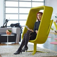 Windowseat Canopy Chair (Chartreuse)