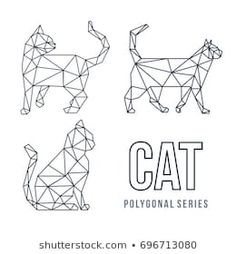 Find Low Poly Logo Icon Cat Pet stock images in HD and millions of other royalty-free stock photos, illustrations and vectors in the Shutterstock collection. Low Poly, Cat Drawing, Line Drawing, Chat Origami, Geometric Deer, Bulletins, Tape Art, 3d Pen, Origami Animals