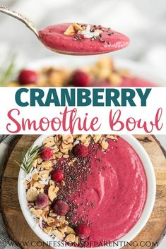 Recipes Breakfast Fast Cranberry Smoothie bowls are a perfect way to start your day. This tasty treat combines simple ingredients that you have on handy and just a few minutes of time to make this delicious cranberry smoothie bowl. Smoothie Menu, Pear Smoothie, Smoothie Bowl, Healthy Smoothies, Smoothie Recipes, Best Dinner Recipes, Breakfast Recipes, Top Recipes, Easy Recipes
