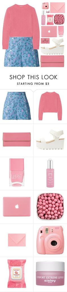 """""""pink punch (top set)"""" by charli-oakeby ❤ liked on Polyvore featuring Olympia Le-Tan, Miu Miu, Lodis, Nails Inc., Dr. Sebagh, Burt's Bees, Sisley Paris, happy and Pink"""