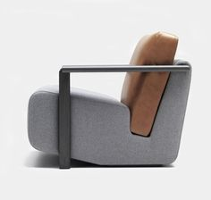 Franck armchair by Charles Kalpakian. Visit houseandleisure.co.za for more