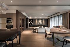 A series of gray walls + wooden floor looks..