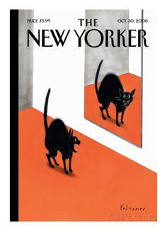 The New Yorker Cover - October 30, 2006 - Gicléetryck på högkvalitetspapper av Ian Falconer på AllPosters.se