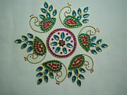Kundan Rangolis-peacock