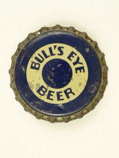 1930s (Rare) Bulls Eye Beer California Cork Crown Tavern Trove Beer Bottle Caps, Vintage Packaging, Bottle Art, 1930s, Cork, Beer Labels, Terra, Ephemera, Bottles