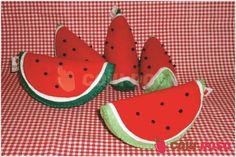 Fruta em feltro - Melancia | Caju Rosa | Elo7