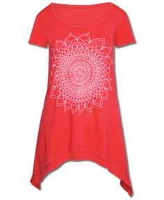 A Thousand Petals Ebb & Flow Top   Made & printed in the USA. Low impact dyes. Organic cotton. Tomato.  Price: $36.00