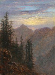 Mountain Landscape at Dusk, Carl Gustav Carus.