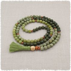 Hey, I found this really awesome Etsy listing at http://www.etsy.com/listing/105747577/mala-beads-serpentine-green-prayer-beads