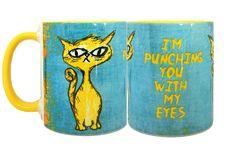 Eye Punch Cat Funny Mug