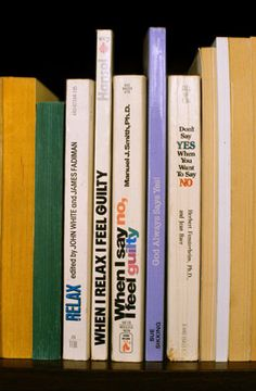 """Nina Katchadourian: Sorted books project. """"...culling through a collection of books, pulling particular titles, and eventually grouping the books into clusters so that the titles can be read in sequence, from top to bottom."""""""