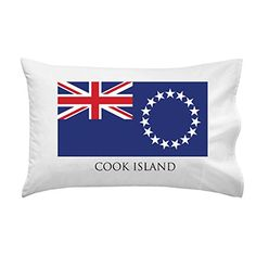 Cook Island - World Country National Flags - Pillow Case Single Pillowcase