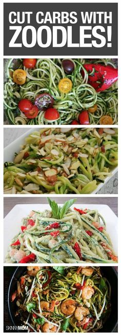 Here are some great recipes made with recipes that use veggies vs noodles. Should be great for most Sleevers!