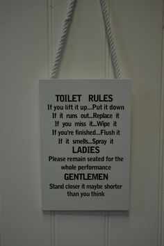 Toilet Rules Bathroom Etiquette Notable Quotes Pics