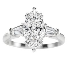 marquee rings | Harry Winston Marquise Ring