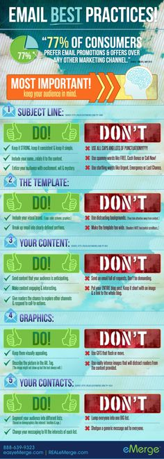Email best practices #infographic #marketing
