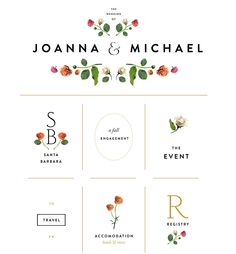Clean, botanical inspired wedding site. So lovely and simple.