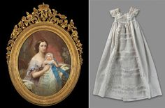 Impératrice Eugénie et le prince impérial par Joseph C Brochart 1856 à d robe du prince vers 1856