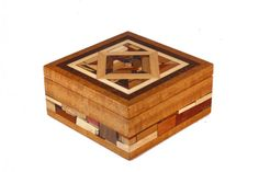 Mosaic Jewelry Box Keepsake Jewelry Boxes Wooden Box Medium for sale Woodworking For Mere Mortals, Woodworking Books, Woodworking Projects, Wooden Jewelry, Jewelry Box, Wood Box Design, Wooden Tea Box, Wood Mosaic, Wood Boxes