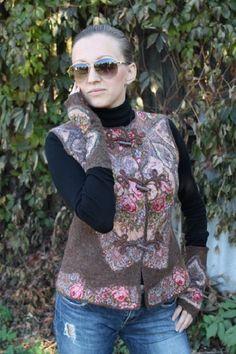 Vest Felt Russian Beauty от MagikfeltAntonio на Etsy