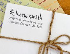 {return address stamp} wedding, housewarming, birthday, etc.