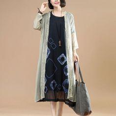 Folded Loose Women Silk Crepe Summer Casual Beige Coat