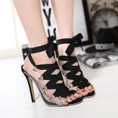 2016 New summer shoes woman fashion sexy transparent lace up women sandals ladies high heels platform wedge sandals pumps-in Women's Sandals from Shoes on Aliexpress.com | Alibaba Group