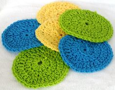 Its the Great Crochet Coaster Comeback - 3 Sets - Hand Made Ecofriendly and Green