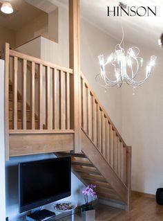 solid oak open riser stairs