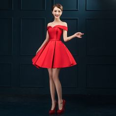 vestidos elegantes para jovenes cortos rojos - Buscar con Google