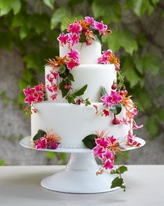 Give your cake a garden-fresh look by adorning it with lush blooms in colors that match your palette.