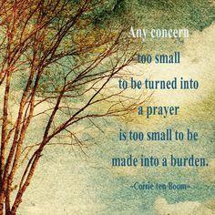 A favorite Corrie ten Boom quote