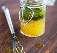Lemon Tarragon Vinaigrette Your salad deserves homemade dressing, and it& so easy to make! This citrus and herb vinaigrette recipe from the 21 Day Fix is ready in minutes. Sauce Dips, Homemade Italian Dressing, Salad Dressing Recipes, Salad Dressings, Fermented Foods, Quick Recipes, Soup And Salad, Sauces, Bon Appetit