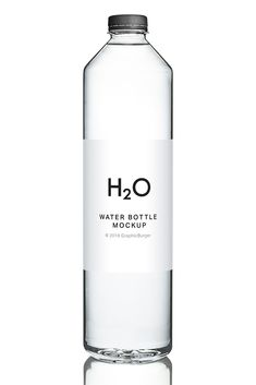 Check out high-resolution mockup: a cylindrical transparent bottle you can use to create a photorealistic presentation for your label and packaging designs. Water Packaging, Glass Packaging, Juice Packaging, Water Branding, Food Packaging Design, Plastic Bottle Design, Water Bottle Design, Best Water Bottle, Water Bottle Labels