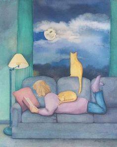 Buonanotte, vado a leggere per una mezzora che si tramuterà magicamente in due ore.