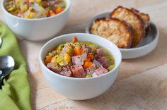 Split Pea & Ham Soup | Inspiration Kitchen-full of veggies!