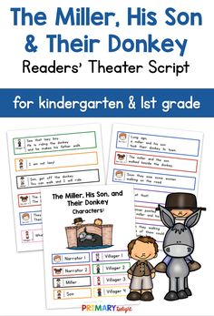 The Miller, His Son, and Their Donkey Readers' Theater Partner Reading, Guided Reading Groups, Reading Fluency, Reading Activities, Art Lessons Elementary, Elementary Schools, Elementary Teaching, Teaching Art, First Grade Reading