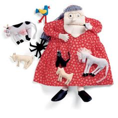 Old Lady who Swallowed a Fly Doll and CD - Toys, Games, Electronics & Crafts – Educational, Imaginative & Fun