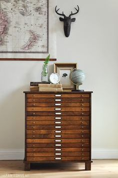 I would kill for a piece like this --- 15 drawer flat file! Perfect for photos, artwork, and drafting.
