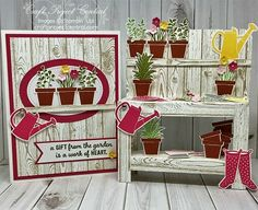 WORKIN' OUT THE INKS:  Stampin' Up! Gift From The Garden: GARDEN WORKBENCH & CARD