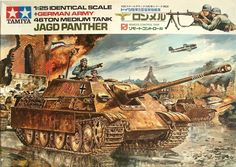 "Tamiya German JagdPanther-V Scale ""Remote Control"" Classic Model Series. Tamiya Model Kits, Tamiya Models, Plastic Model Kits, Plastic Models, Maquette Tamiya, Army Drawing, Ww2 History, Military Modelling, Ww2 Tanks"