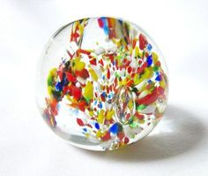 Paperweight Identification | Glass Paperweight Multicolored Vintage ID 013 by DreamsAttic, $21.50