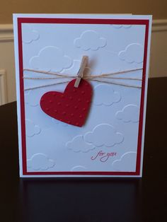Stampin' Up! - Heart Punch; Small Script; use silver heart paper as background instead of white