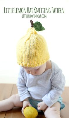 When life gives you lemons…make a little lemon hat with this free knitting pattern! Oh my gosh, you guys, Baby V is a lemon! How cute is…